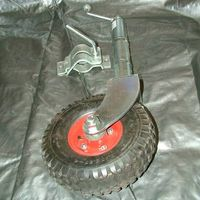 Jockey Wheel - Pneumatic 10 inch with clamp
