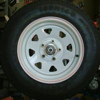 Wheel - 14 inch white wheel and tyre